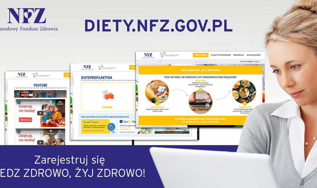 Bezpłatny portal żywieniowy NFZ